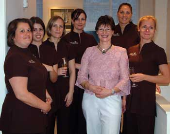 Joanna Pitt with Mayflowers Health & Beauty therapists